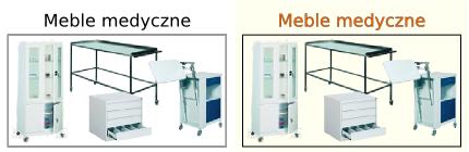 Szafy lekarskie, Szafki przyłóżkowe szpitalne, Biurka lekarskie, Stoliki chirurgiczne, laboratoryjne